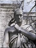 TQ2977 : Close-up of William Huskisson, Pimlico Gardens SW1 by Robin Sones