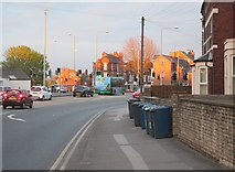 SK5838 : A spring evening on Radcliffe Road by John Sutton