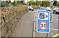 "J3784 : ""Speed camera"" sign, Jordanstown/Greenisland (2013-1) by Albert Bridge"