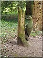SE2685 : Woodpecker sculpture, Thorp Perrow Arboretum by Oliver Dixon