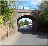 SO7845 : Clarence Road railway bridge, Great Malvern by Jaggery