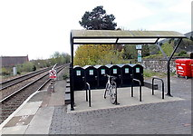 SO7845 : Bicycle parking area at Great Malvern railway station by Jaggery