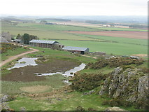NT6334 : Looking east from Smailholm Tower battlements by M J Richardson