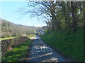 SJ2736 : Looking down the hill in Pont-Faen by John Haynes