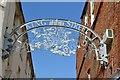 SK7519 : King Street ornamental metal arch by Robin Stott