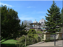 SK0573 : Bandstand at Buxton Pavilion Gardens by Geoff Royle