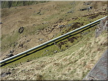 SH6354 : Pipeline from Llyn Llydaw by Gareth James