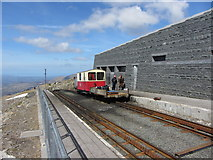 SH6054 : Maintenance vehicles at Snowdon Summit station by Gareth James