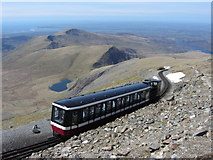 SH6054 : Train near Snowdon Summit by Gareth James