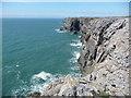 SR9493 : Rocky coastline of South Pembrokeshire by Jeremy Bolwell