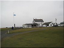 NU0445 : Goswick Golf Course, Clubhouse by Les Hull
