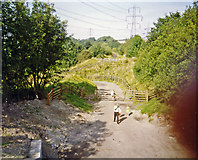 SK4478 : Site of former Renishaw Central station, 1993 by Ben Brooksbank