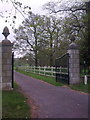 TM3769 : Entrance Gates of Sibton Park by Adrian Cable