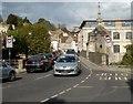ST8260 : Cars queue on Town Bridge, Bradford-on-Avon by Jaggery