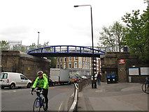 TQ3478 : Bermondsey Connect2 bridge - west side by Stephen Craven