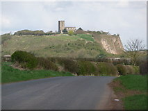 SK4023 : Breedon-on-the-Hill: the hill from Worthington Lane by Chris Downer