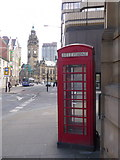 SK3587 : Sheffield: telephone box in Leopold Street by Chris Downer