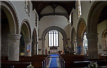 SK5276 : Interior, St Lawrence's church, Whitwell by Julian P Guffogg