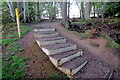 TL0738 : Stairs on the Greensand Ridge Walk by Philip Jeffrey