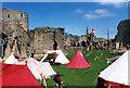 NZ0416 : Re-enactment in the castle, Barnard Castle by Jo Turner