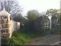 SX3884 : Alleyway down west side of church yard by Hugh Craddock