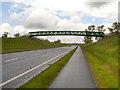 SJ8375 : Footbridge over Melrose Way (A34) by David Dixon