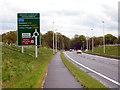 SJ8375 : Melrose Way (Alderley Edge Bypass) Approaching Nether Alderley Roundabout by David Dixon