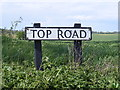 TM3686 : Top Road sign by Adrian Cable