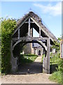 TM3686 : Lych Gate of St.Lawrence Church by Adrian Cable