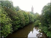 NS5666 : Glasgow University from the River Kelvin by Alan Reid