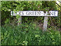 TM3886 : Becks Green Lane sign by Adrian Cable