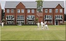 SU5985 : Cricket near the houses by Bill Nicholls