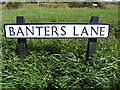 TM3887 : Banters Lane sign by Adrian Cable