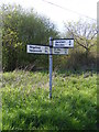 TM3887 : Roadsign on Chapel Road by Geographer