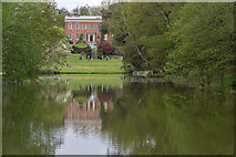 TL7835 : Reflections, Lake, Castle Hedingham, Colne Valley, Essex by Christine Matthews