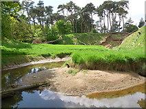 NT6378 : East Lothian Landscape : Old Pipe Meander, Hedderwick Burn by Richard West