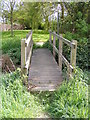TM3787 : Footbridge of the footpath off Mill Lane by Adrian Cable