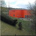 ST1597 : Orange building, Lewis School Pengam by Jaggery