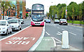 J3473 : Bus lane, East Bridge Street, Belfast (2) by Albert Bridge