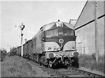 N9690 : Freight train leaving Ardee by The Carlisle Kid