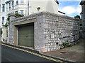 SX9473 : Wide garage in limestone, Glendaragh Road, Teignmouth by Robin Stott