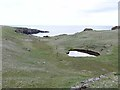 HP6715 : Bomb crater on the Lamba Ness peninsula by Oliver Dixon