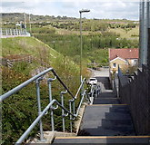ST1599 : Steps from Gilfach Street to Eastview Terrace, Bargoed by Jaggery