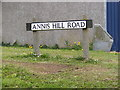 TM3489 : Annis Hill Road sign by Adrian Cable