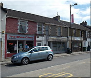 ST1599 : Three Cardiff Road businesses, Bargoed by Jaggery