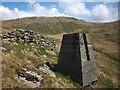 NY4906 : Survey pillar above Brock Crag, Stockdale by Karl and Ali