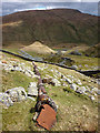 NY4708 : Old pipeline, Wrengill Quarry, Longsleddale by Karl and Ali
