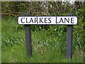 TM3989 : Clarkes Lane sign by Adrian Cable
