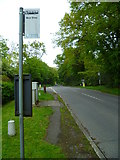 SU9984 : Framewood Road with bus stop looking north by Shazz