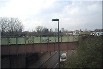 TQ2775 : Railway bridge, A3220 by N Chadwick
